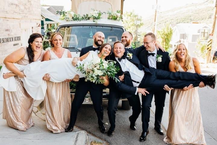Gold-Bridesmaid-Dresses-Classic-Tux-Utah