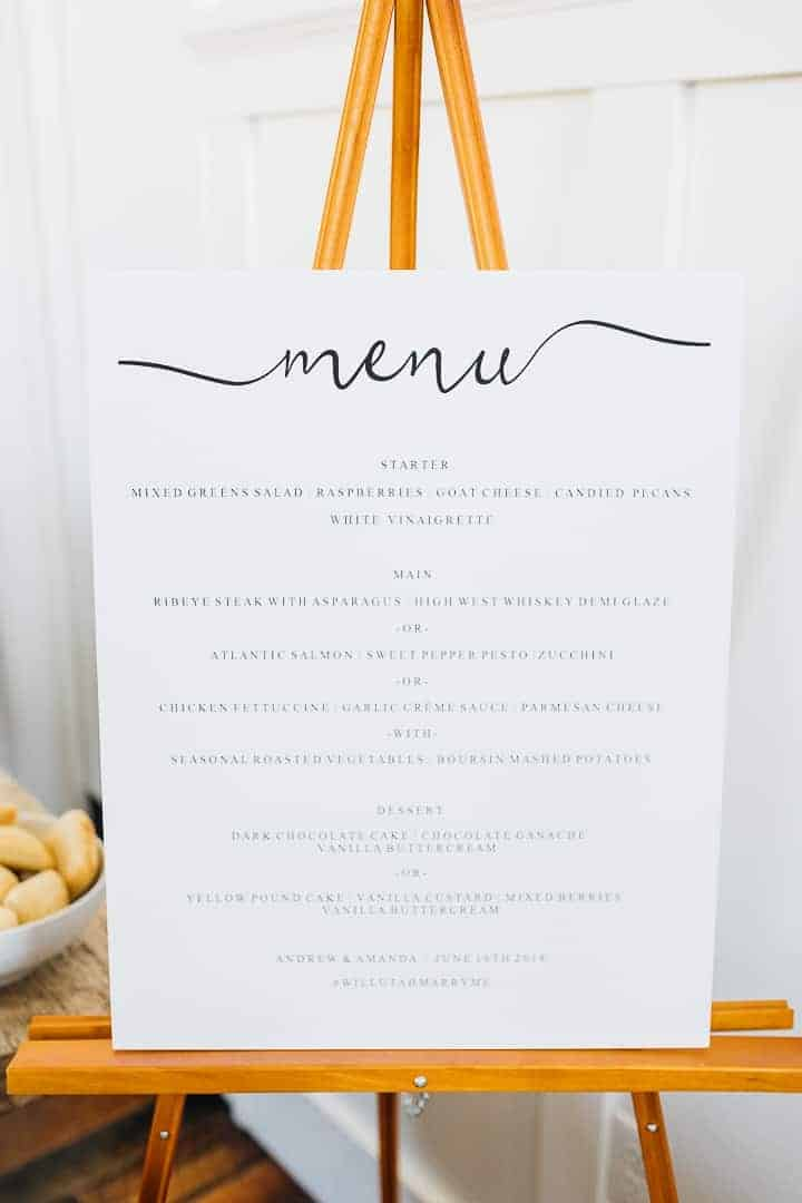 Bright-White-Wedding-Menu-Ideas