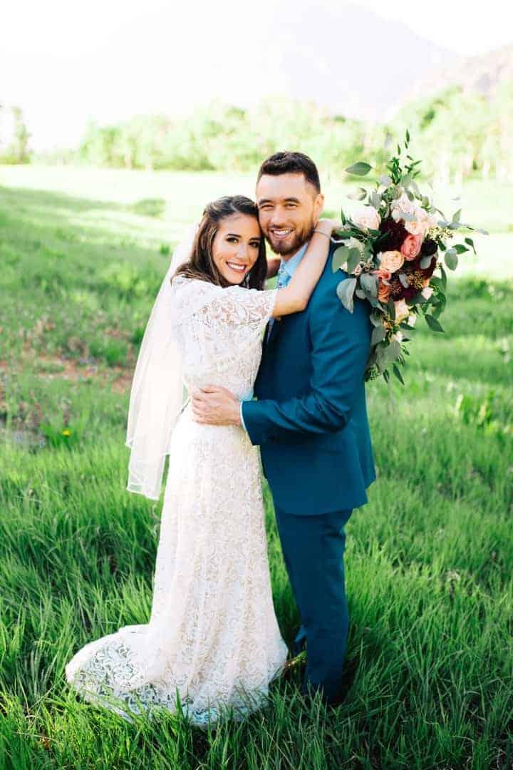 Modest-White-Wedding-Dress