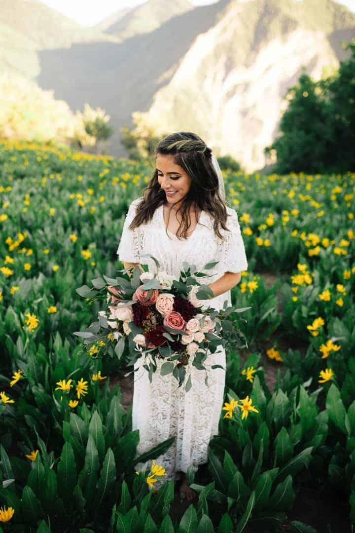 Mountain-Top-Scenic-View-Sleek-Gorgeous-Bride