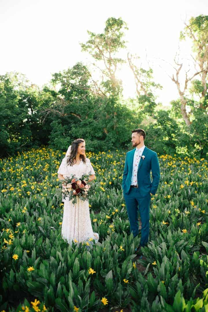 Green-Wild-Flowers-Provo-Canyon-Wedding-Formals