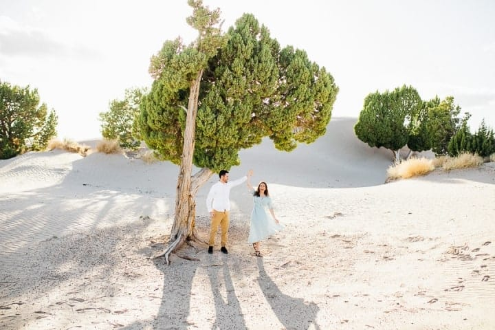Bright-Green-Tree-Sand-Engagement-Session-Sandy-Utah