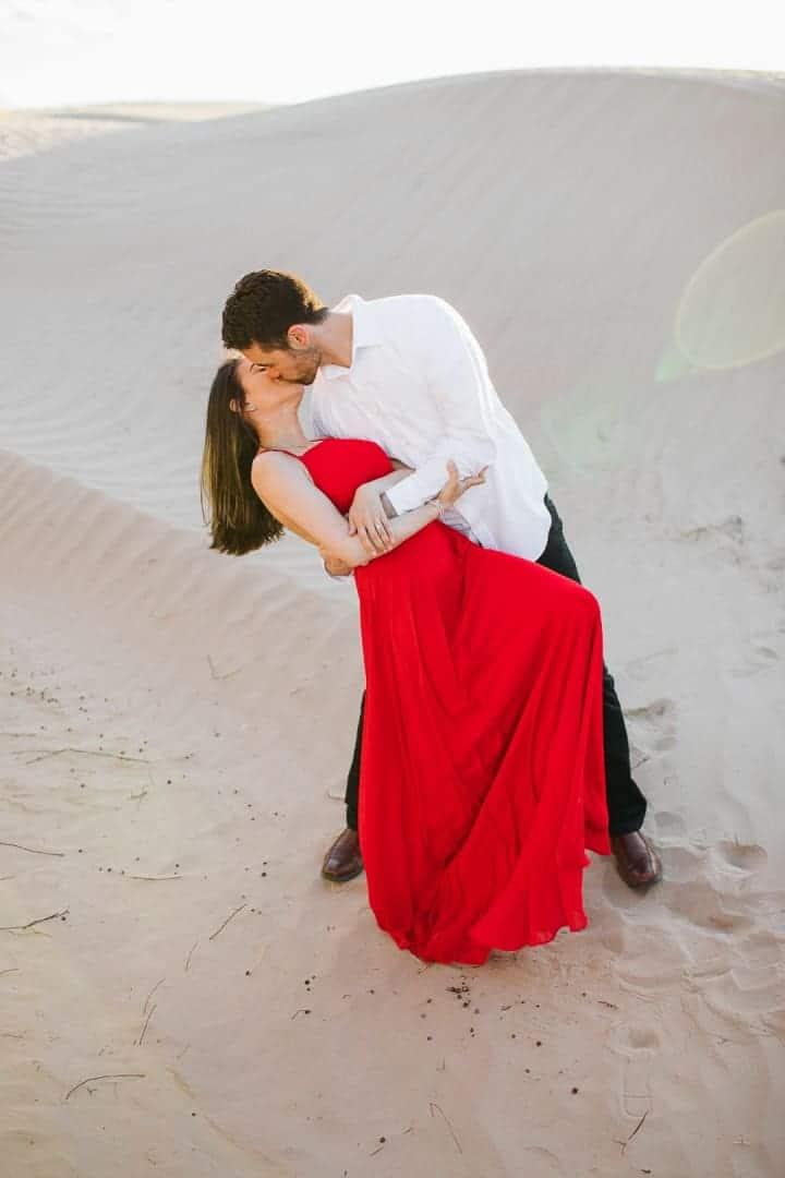 Romantic-Dipping-Engagement-Kisses-Utah