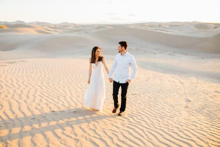 Gorgeous-White-Engagement-Dress-Sahara-Desert-Utah