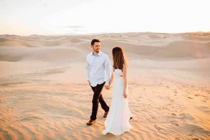 Gorgeous-Couple-Walking-In-The-Sunset-Utah