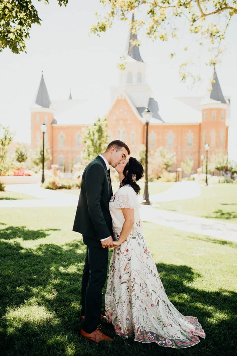 Gorgeous couple kissing