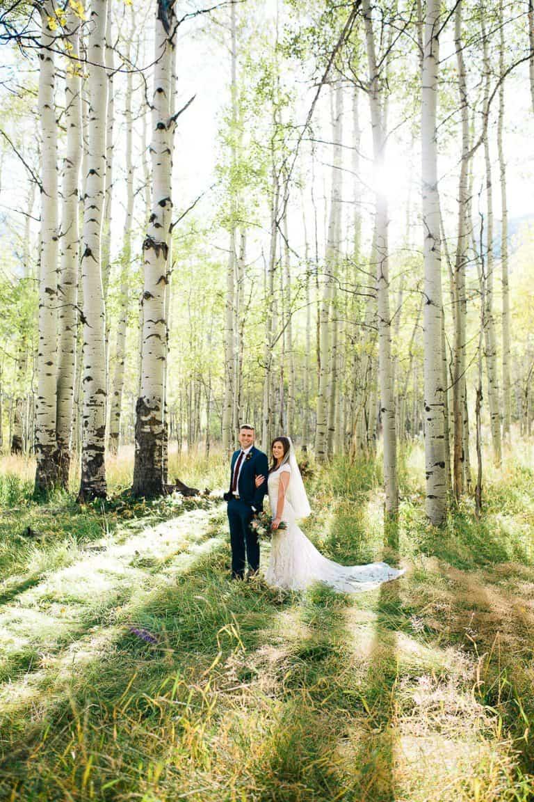 Bright white wedding formals