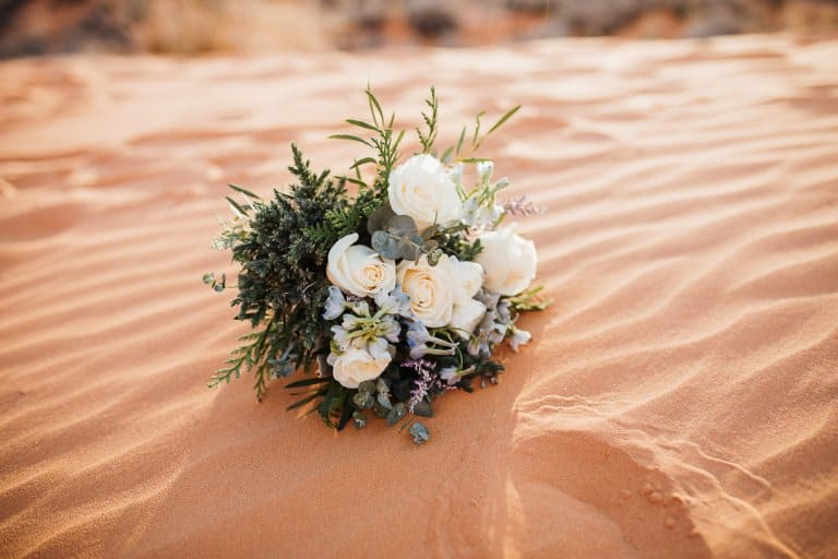 Gorgeous bouquet in the sand