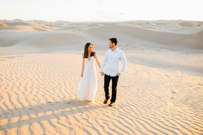 Romantic formals in the sand