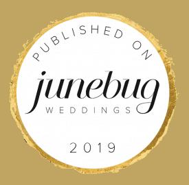 Badge of a published wedding photographer