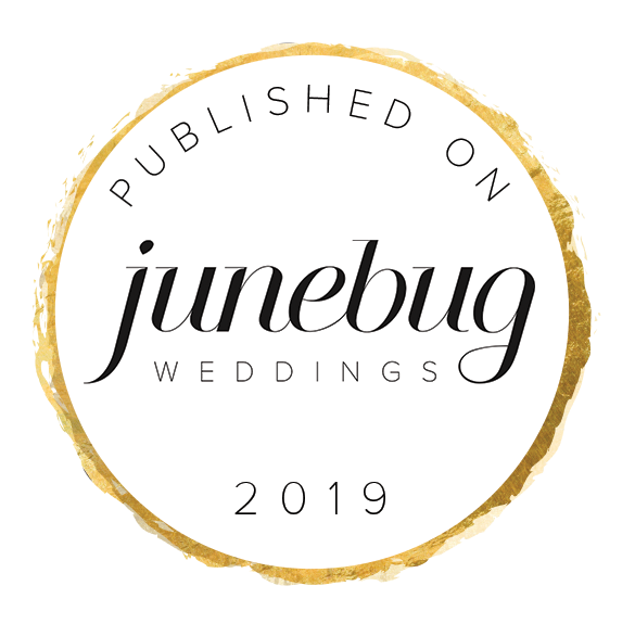 Badge of a published wedding photographer