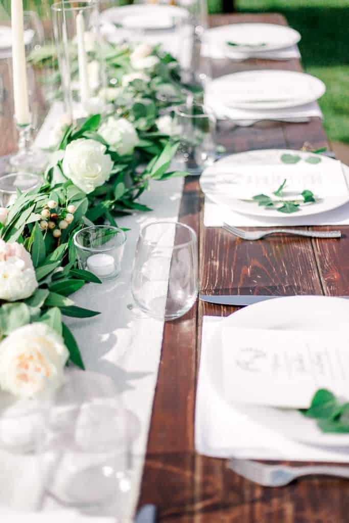 Wedding decoration details taken in SLC Utah pricing