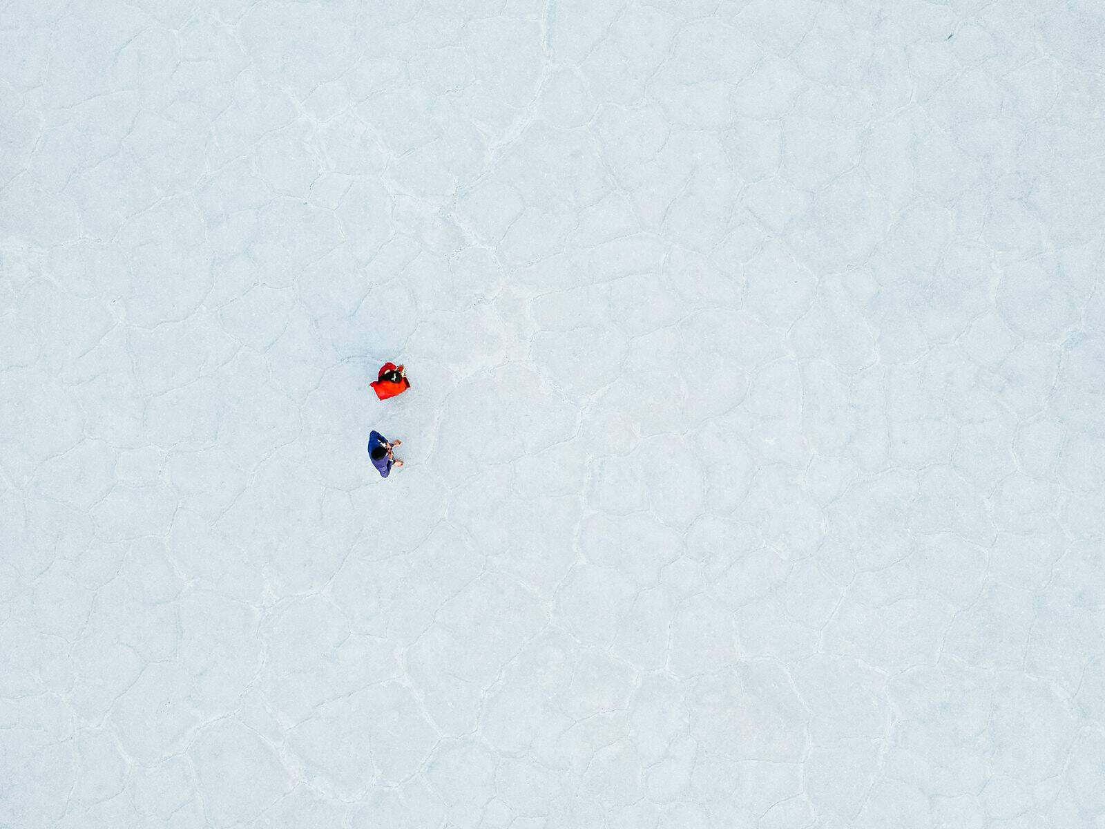 drone photography, Bonneville Salt Flats Engagement Photos, Utah engagement session, engagement photography, red dress