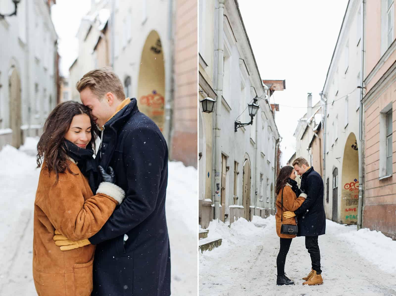 estonia engagement pictures, European city, travel photography