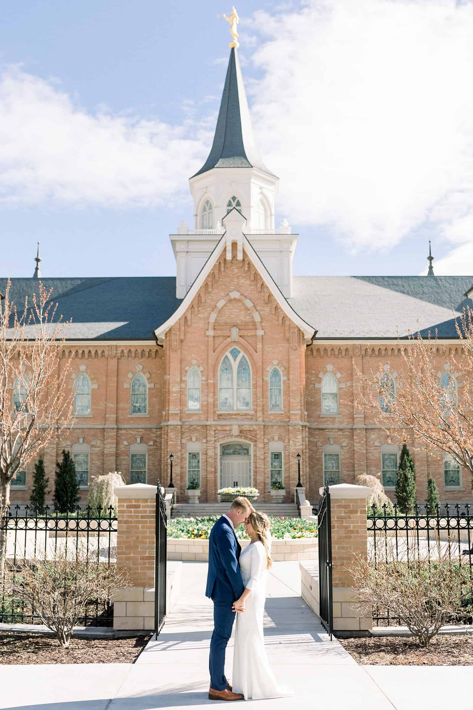 spring wedding Provo City Center LDS Temple