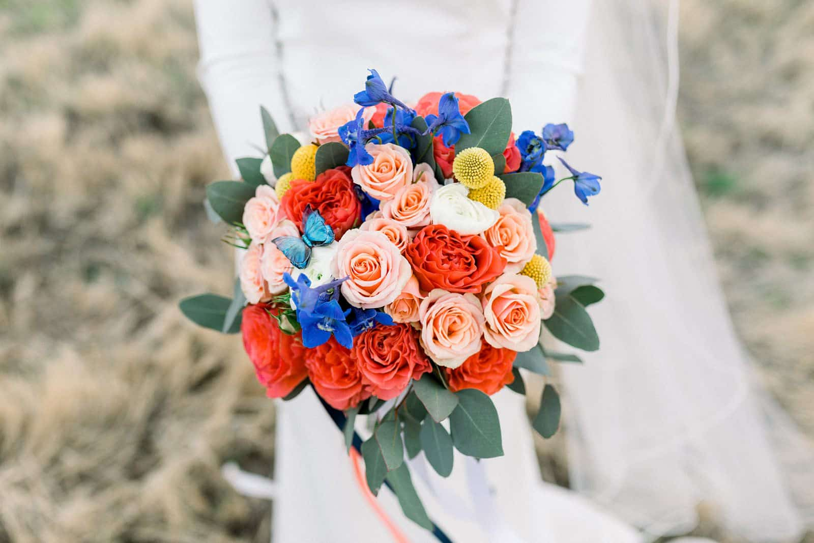 colorful spring flowers, wedding bouquet, Utah wedding photography