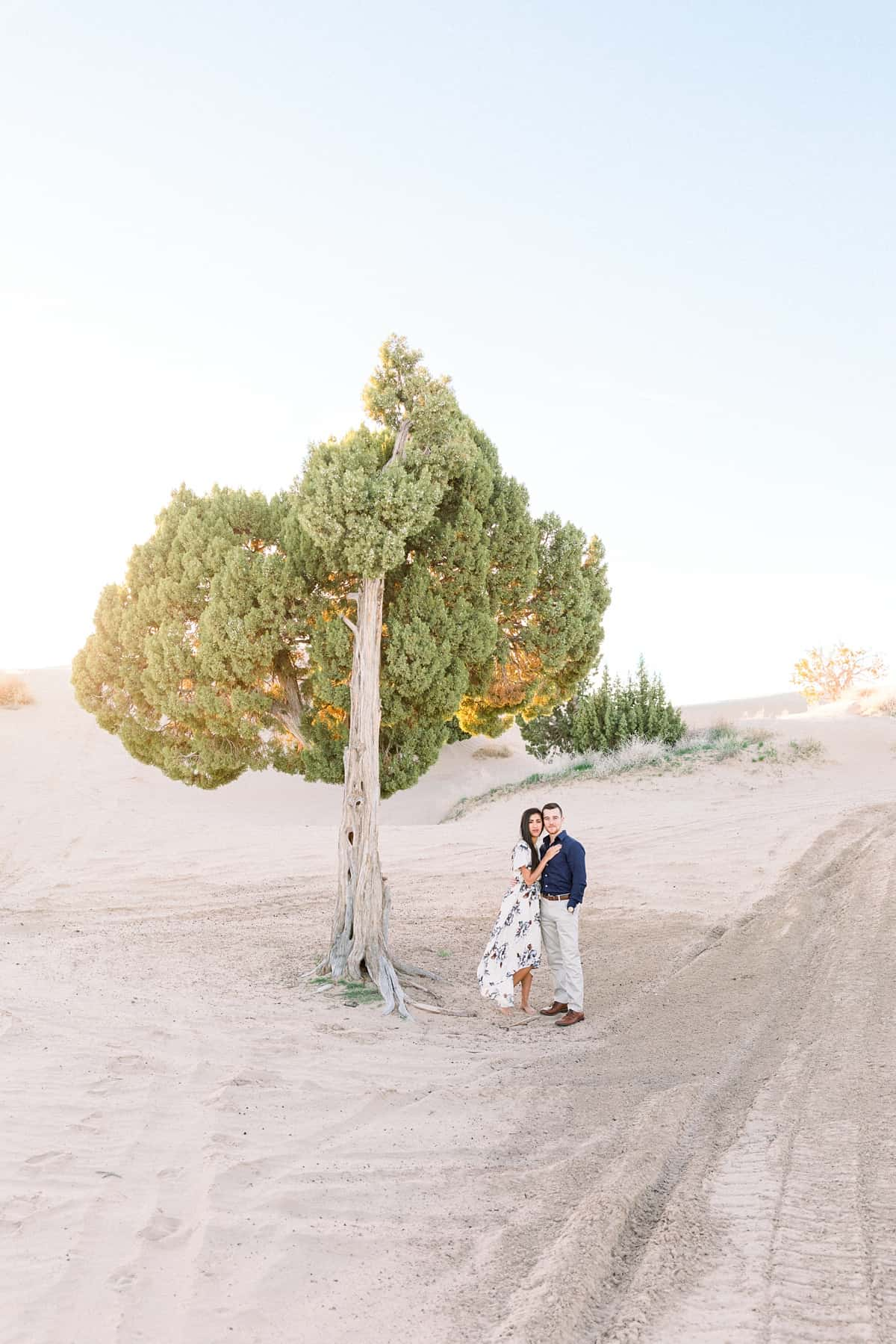 Couples engagement session, desert photos at the Little Sahara sand dunes in Utah, Utah wedding photographer, what to wear for engagement pictures