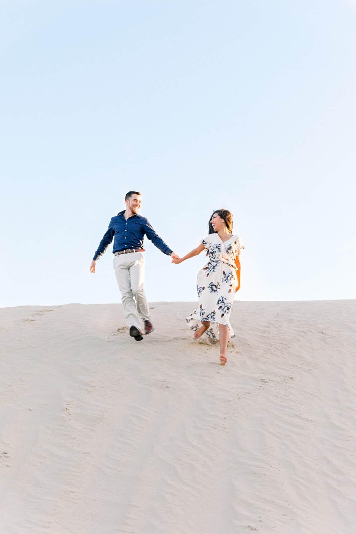 Sand Dunes Desert Engagement Photos, adventure photography