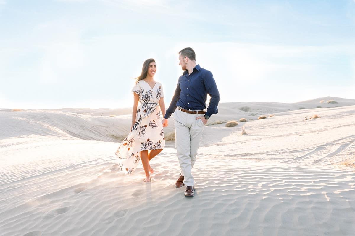 Sand Dunes Desert Fun Engagement Photos, adventure photography