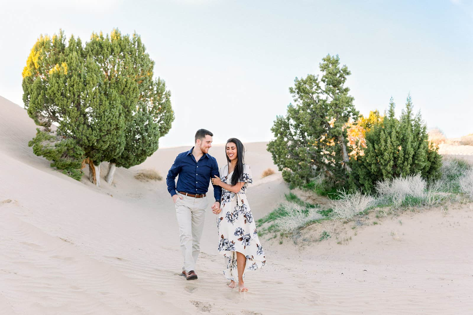 Little Sahara Sand Dunes Engagement Photos | Nephi, Utah