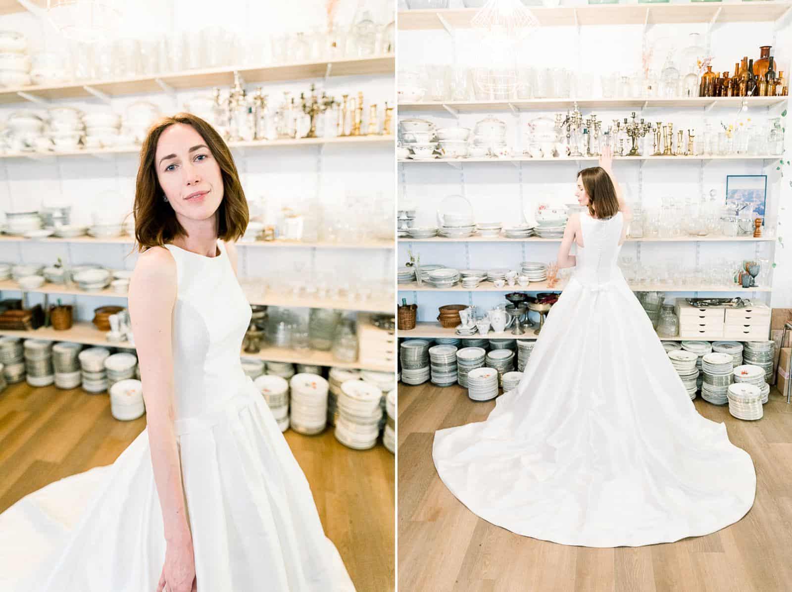 Modern bride in Paris, France