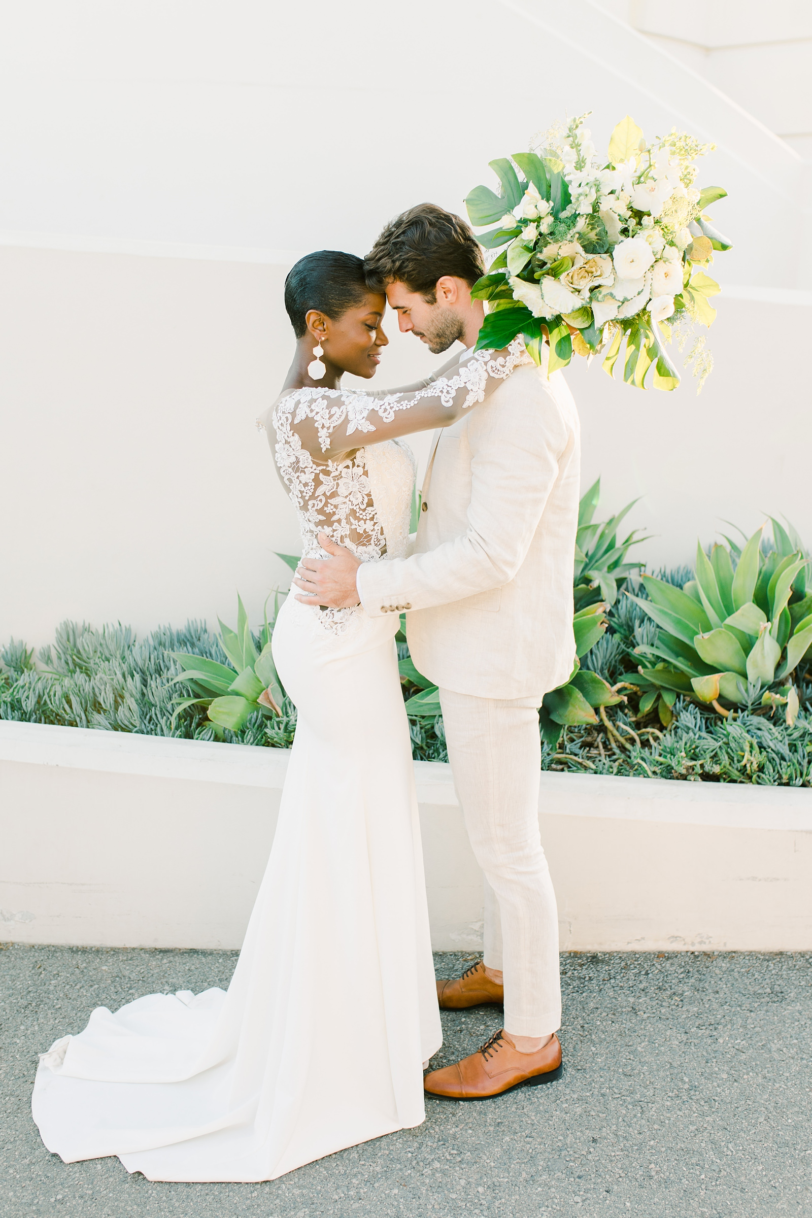 Modern timeless wedding photography at the Griffith Observatory in Los Angeles, California destination wedding photographer