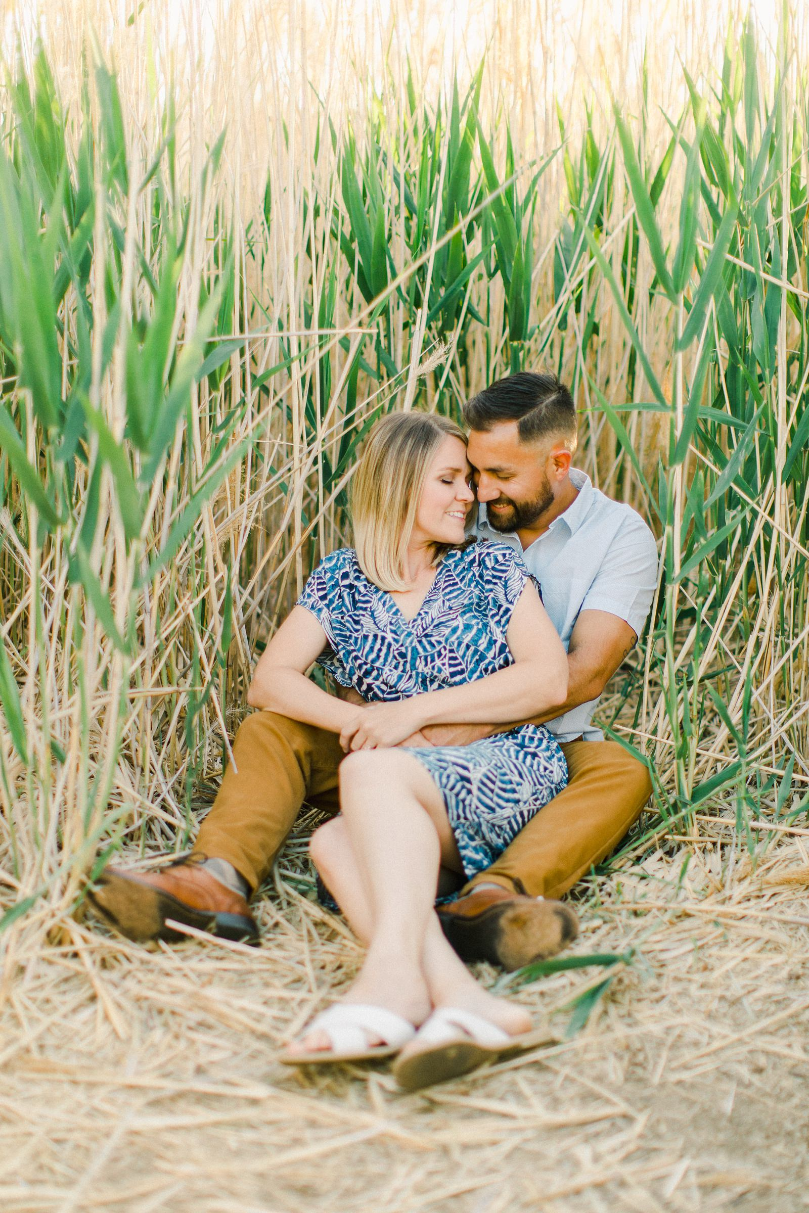 Tunnel Springs Park Salt Lake City Engagement Session, Utah wedding photography, couple in field