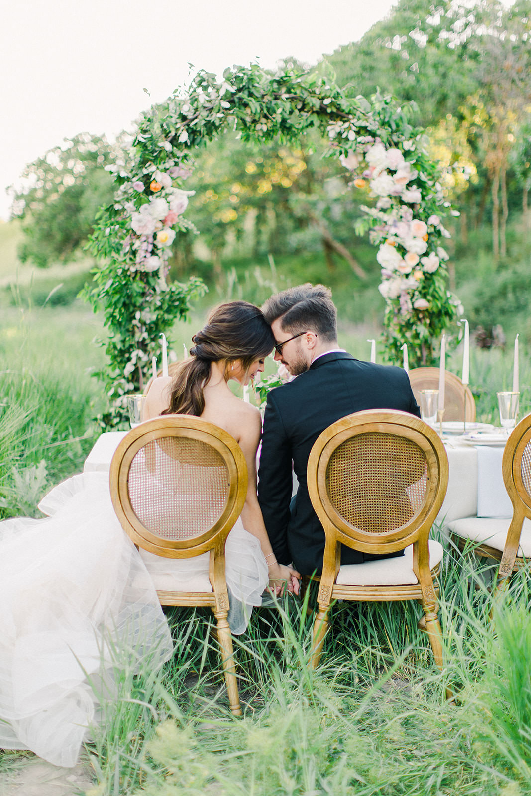 Utah Styled session floral arch and tablescape