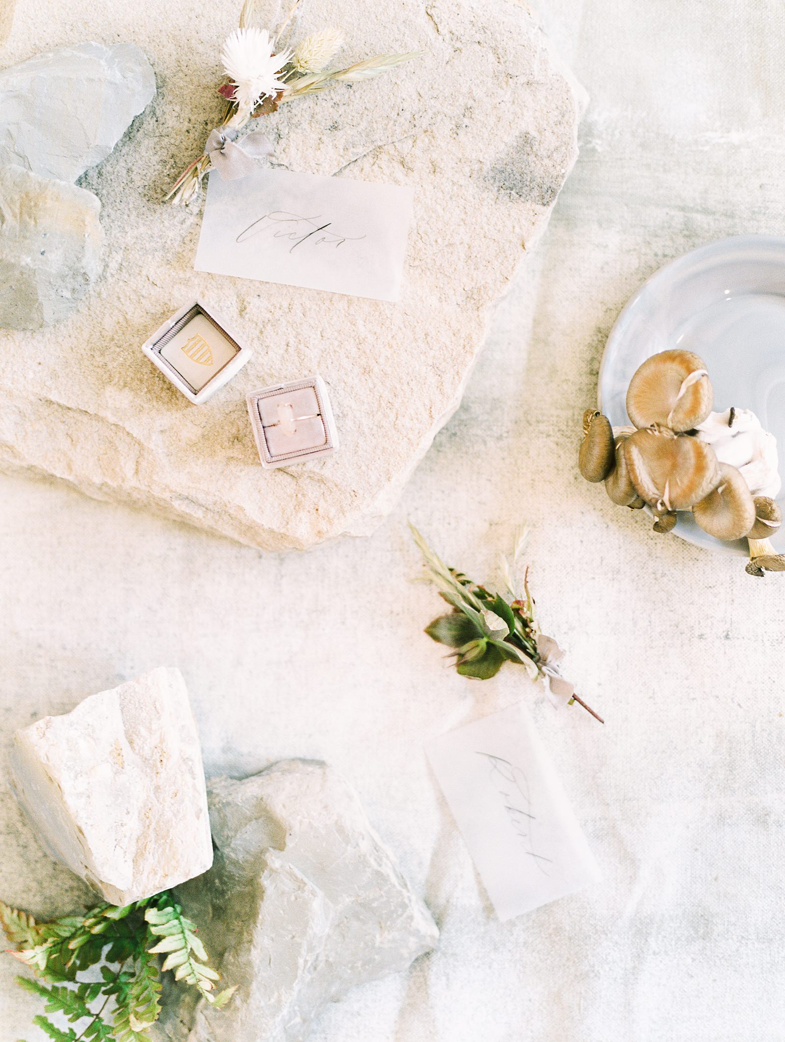 Heber Valley Natural Organic Wedding Inspiration at River Bottoms Ranch, Utah wedding film photography, calligraphy place cards on vellum with raw tablescape centerpieces