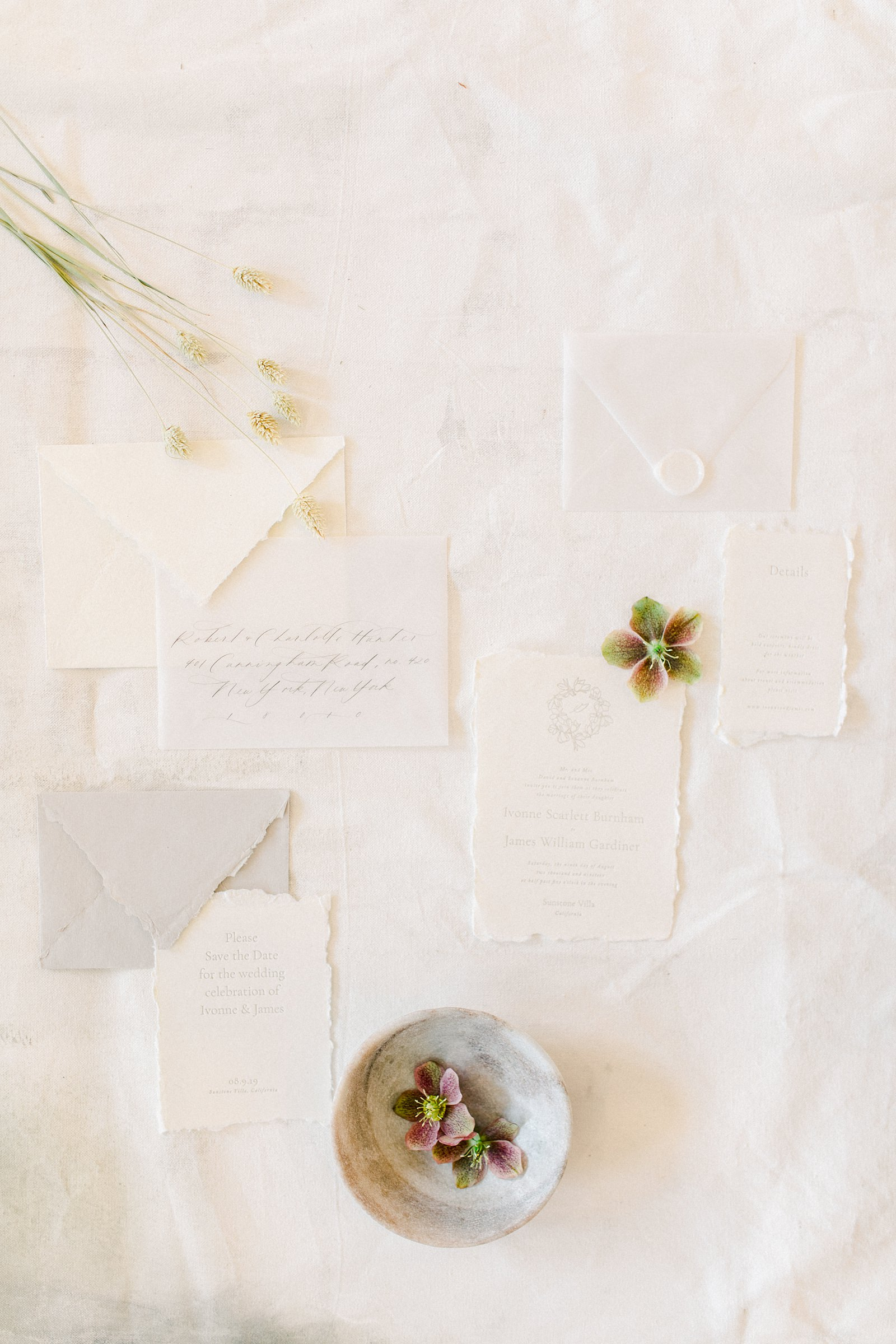 Heber Valley Natural Organic Wedding Inspiration at River Bottoms Ranch, Utah wedding film photography, white wedding invitations with raw edge calligraphy fine art