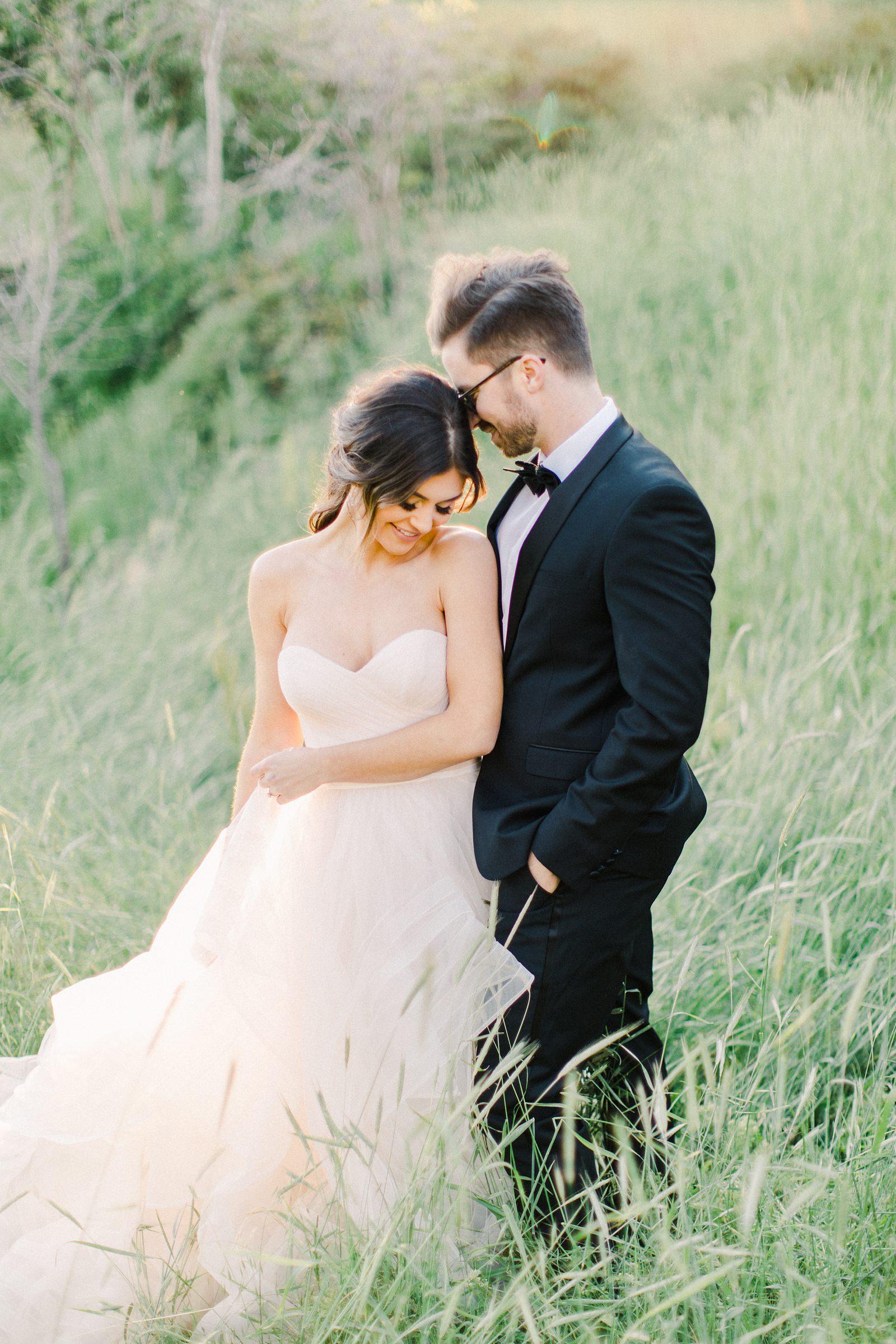 Outdoor Spring Secret Garden Wedding, Provo Utah Film Wedding Photography, bride and groom golden hour sunset light