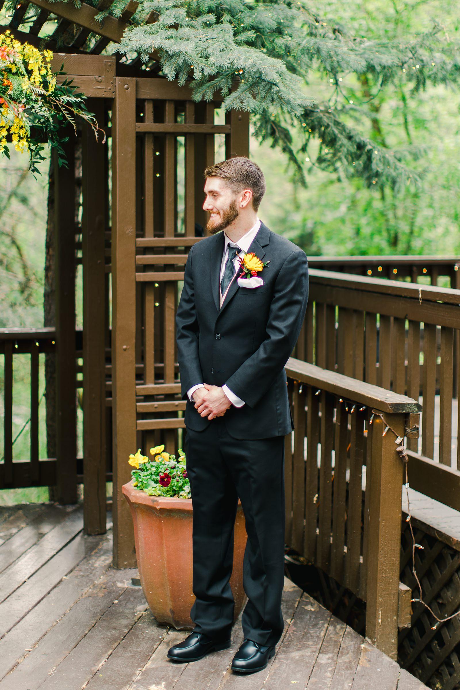 Millcreek Inn Summer Wedding, Utah wedding photography Millcreek Canyon, Salt Lake City, mountain ceremony, groomsmen classic black suit