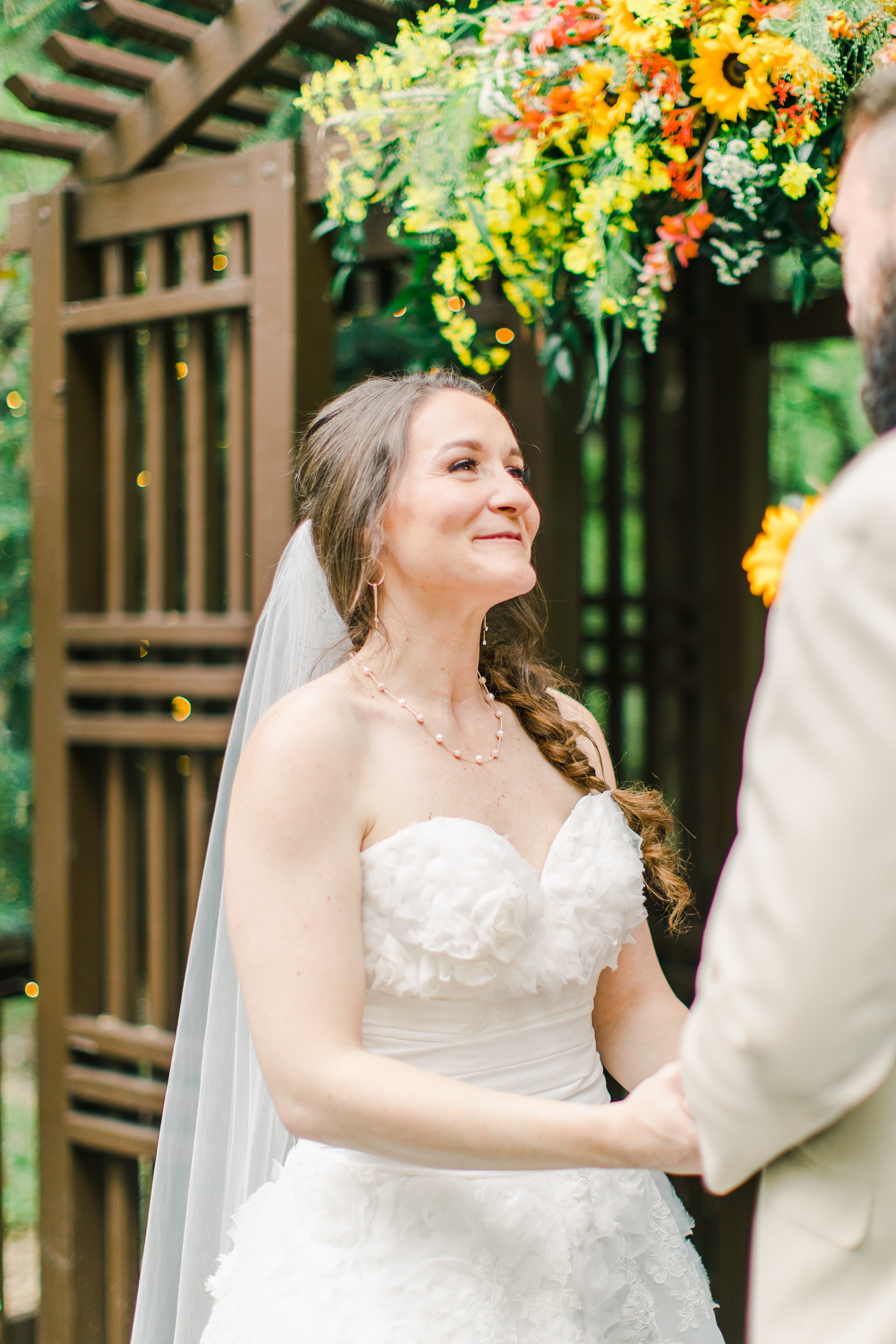 Millcreek Inn Summer Wedding, Utah wedding photography Millcreek Canyon, Salt Lake City, mountain ceremony, bride's vows