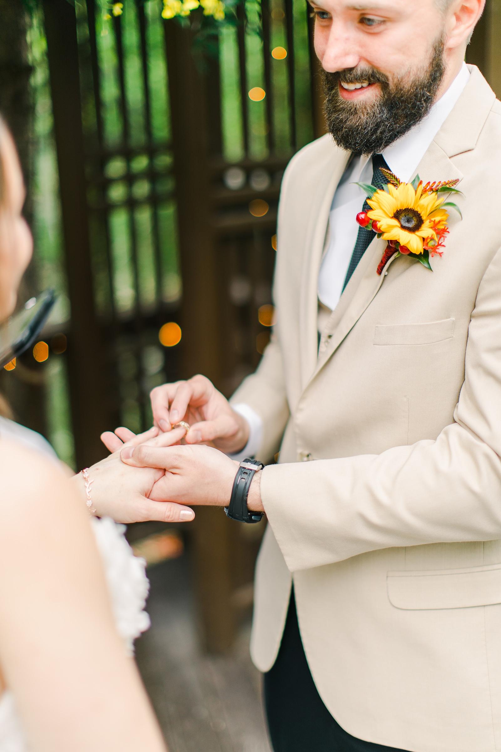 Millcreek Inn Summer Wedding, Utah wedding photography Millcreek Canyon, Salt Lake City, mountain ceremony, ring exchange