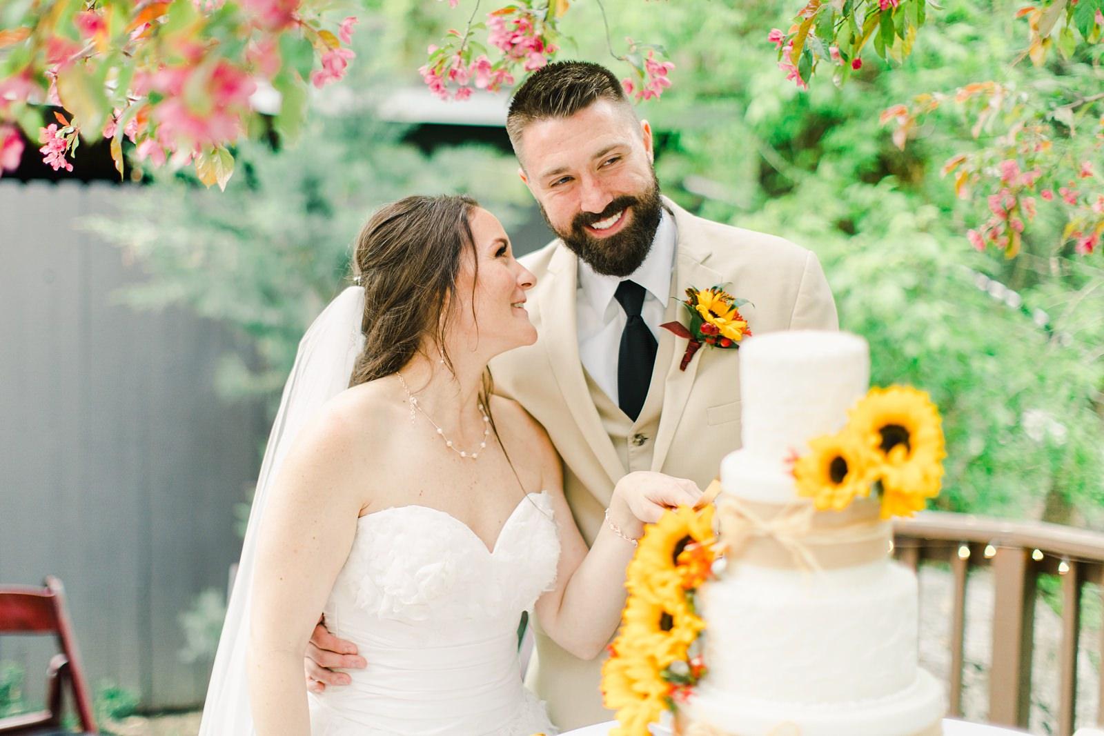 Rustic Summer Wedding Full of Sunflowers at Millcreek Inn | Salt Lake City, Utah