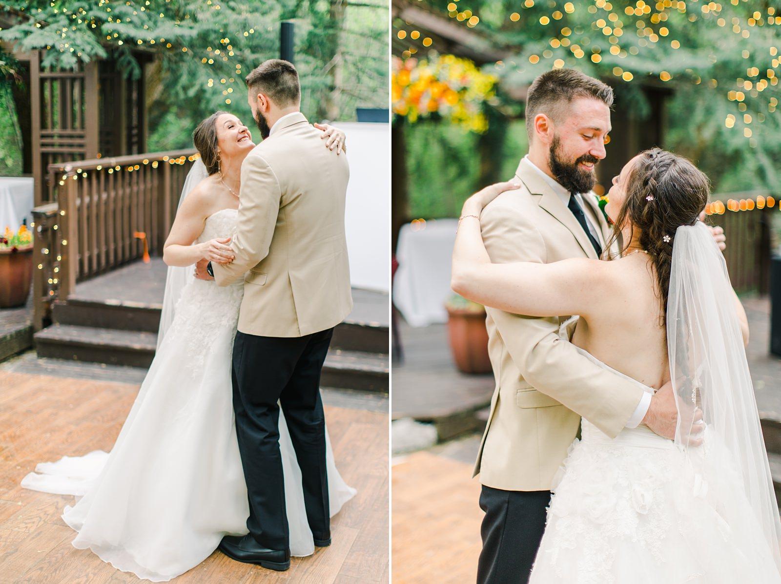 Millcreek Inn Summer Wedding, Utah wedding photography Millcreek Canyon, Salt Lake City, bride and groom first dance