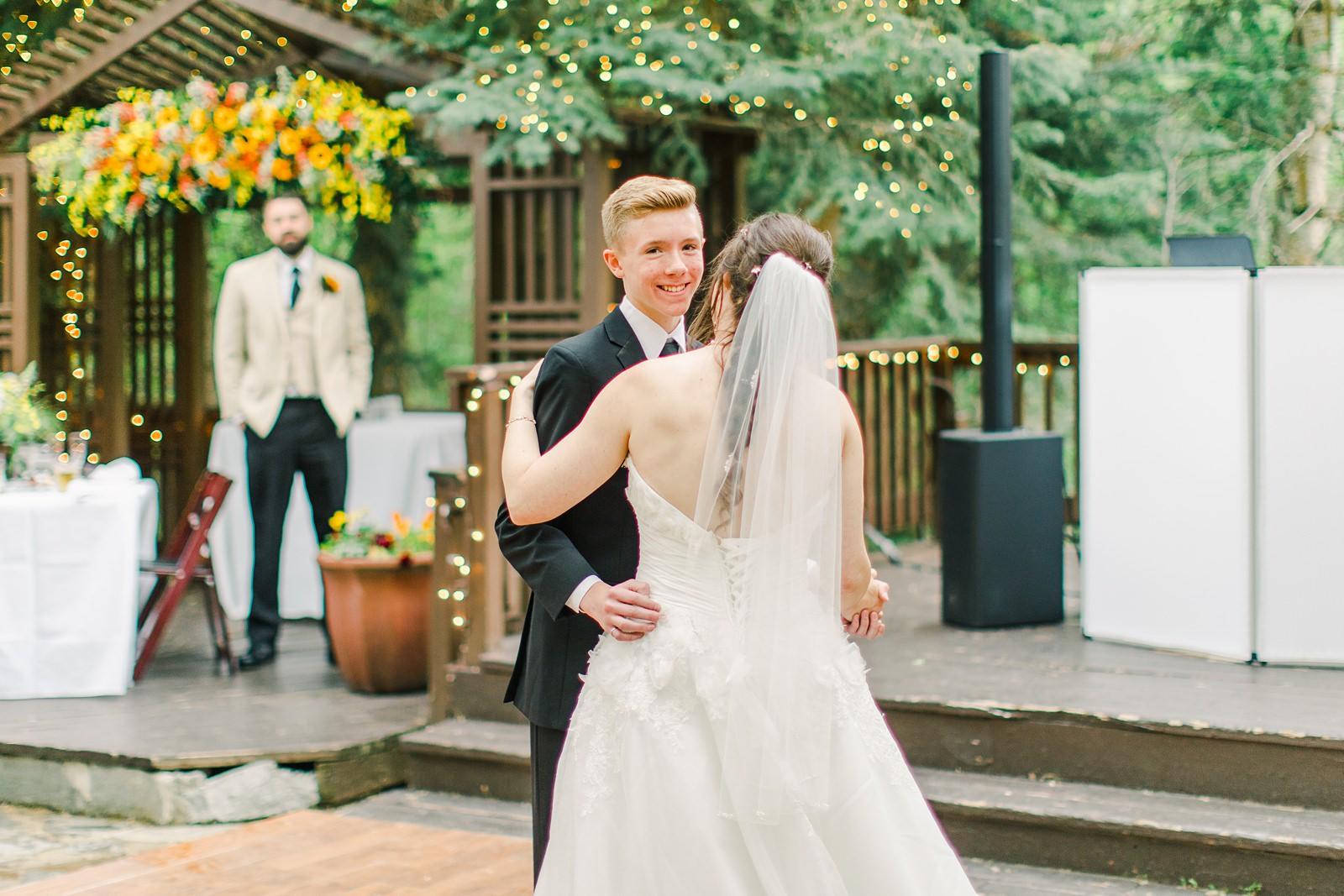 Millcreek Inn Summer Wedding, Utah wedding photography Millcreek Canyon, Salt Lake City, mother son dance