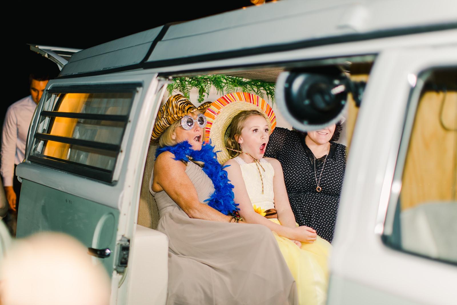 Millcreek Inn Summer Wedding, Utah wedding photography Millcreek Canyon, Salt Lake City, vintage VW bus photo booth props