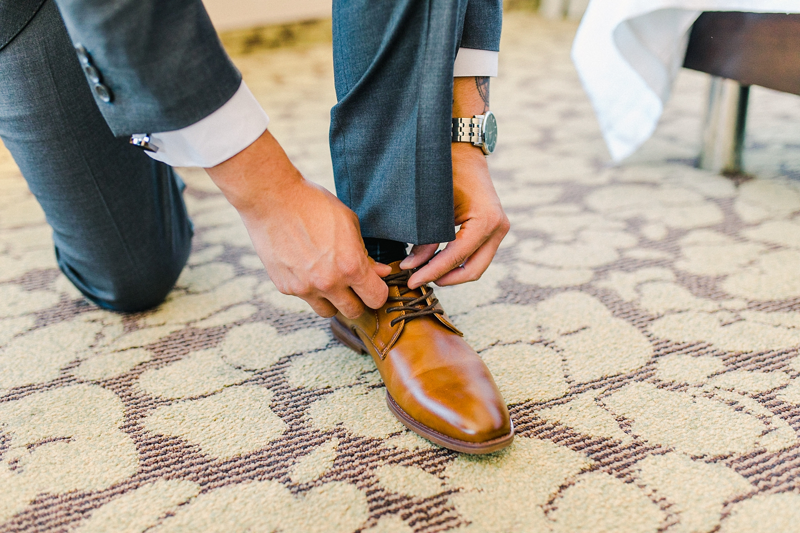 Cache Valley Logan Traditional Catholic Wedding Ceremony in a cathedral, Utah wedding photography, groom getting ready photos