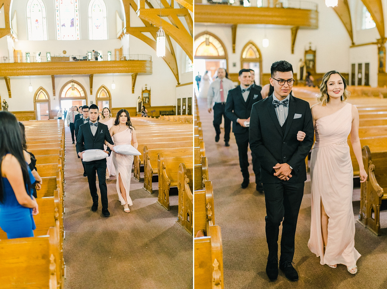 Cache Valley Logan Traditional Catholic Wedding Ceremony in a cathedral, Utah wedding photography