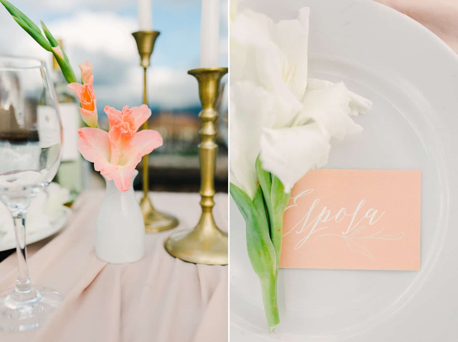 Cusco Peru Destination Wedding Inspiration, travel photography, pink blush tablecloth, wedding dinner tablescapre place setting centerpiece place cards