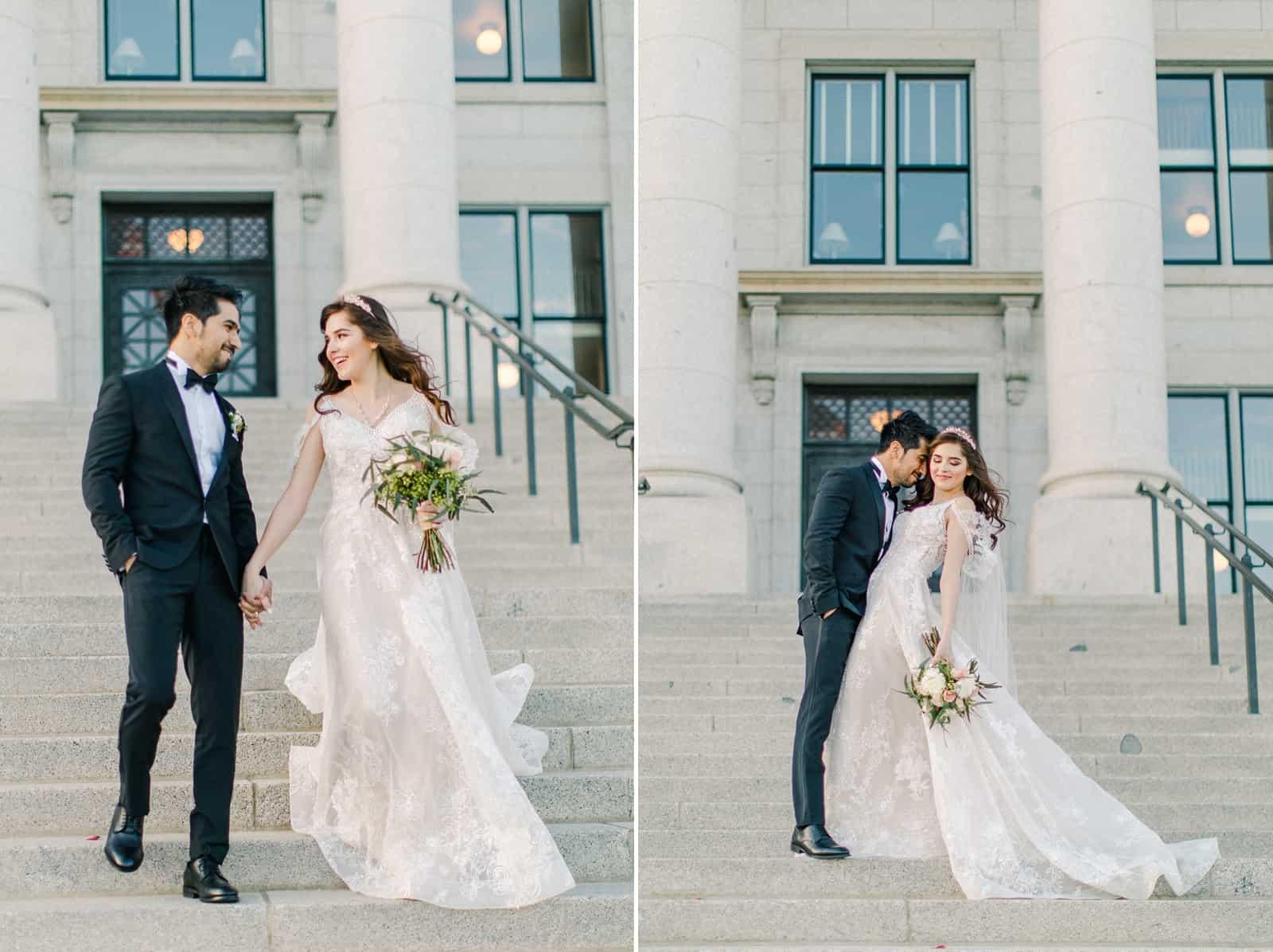 Palestinian Iranian Bride and Groom, Utah Wedding Photography at the Utah State Capitol, travel destination wedding photographer