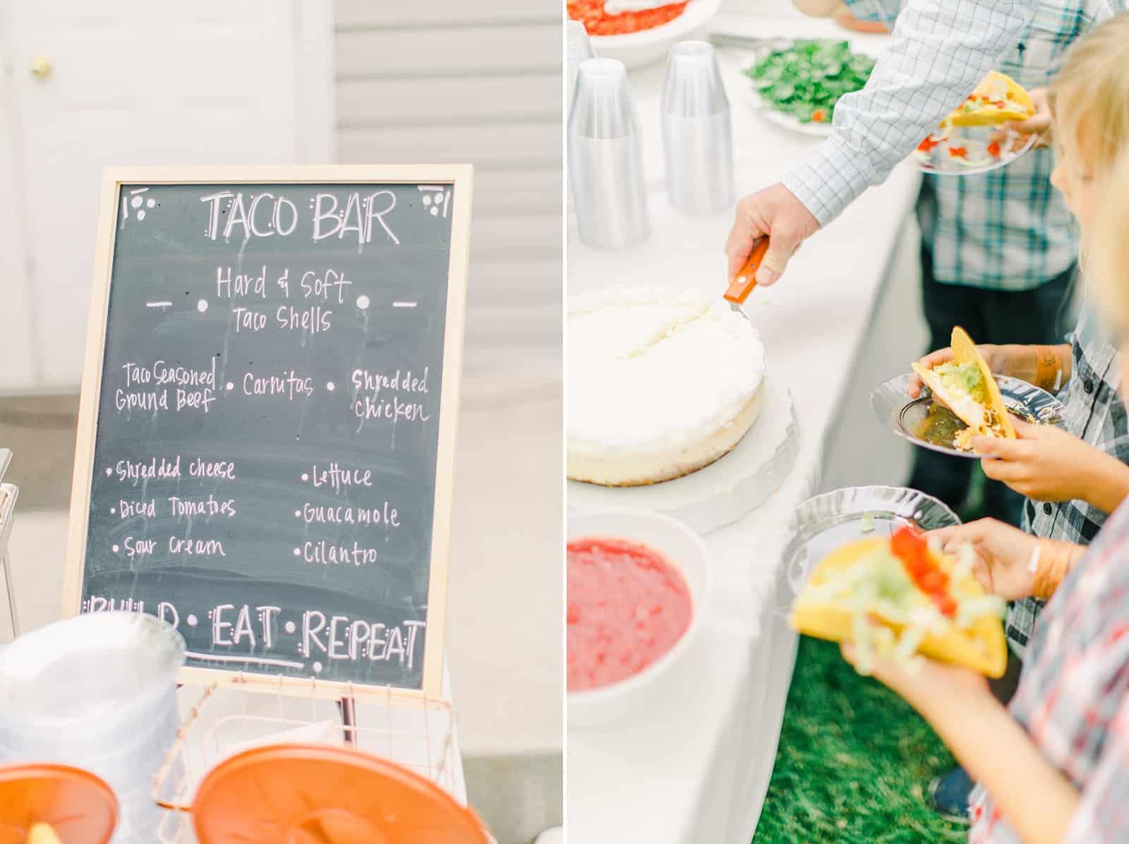 Draper LDS Temple Wedding, Utah wedding photography, summer backyard wedding, reception decor taco bar