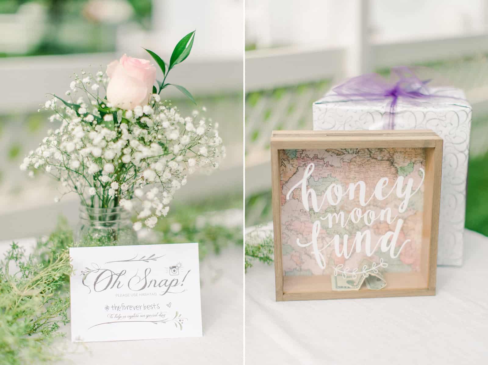 Draper LDS Temple Wedding, Utah wedding photography, summer backyard wedding, reception decor calligraphy sign, honeymoon fund