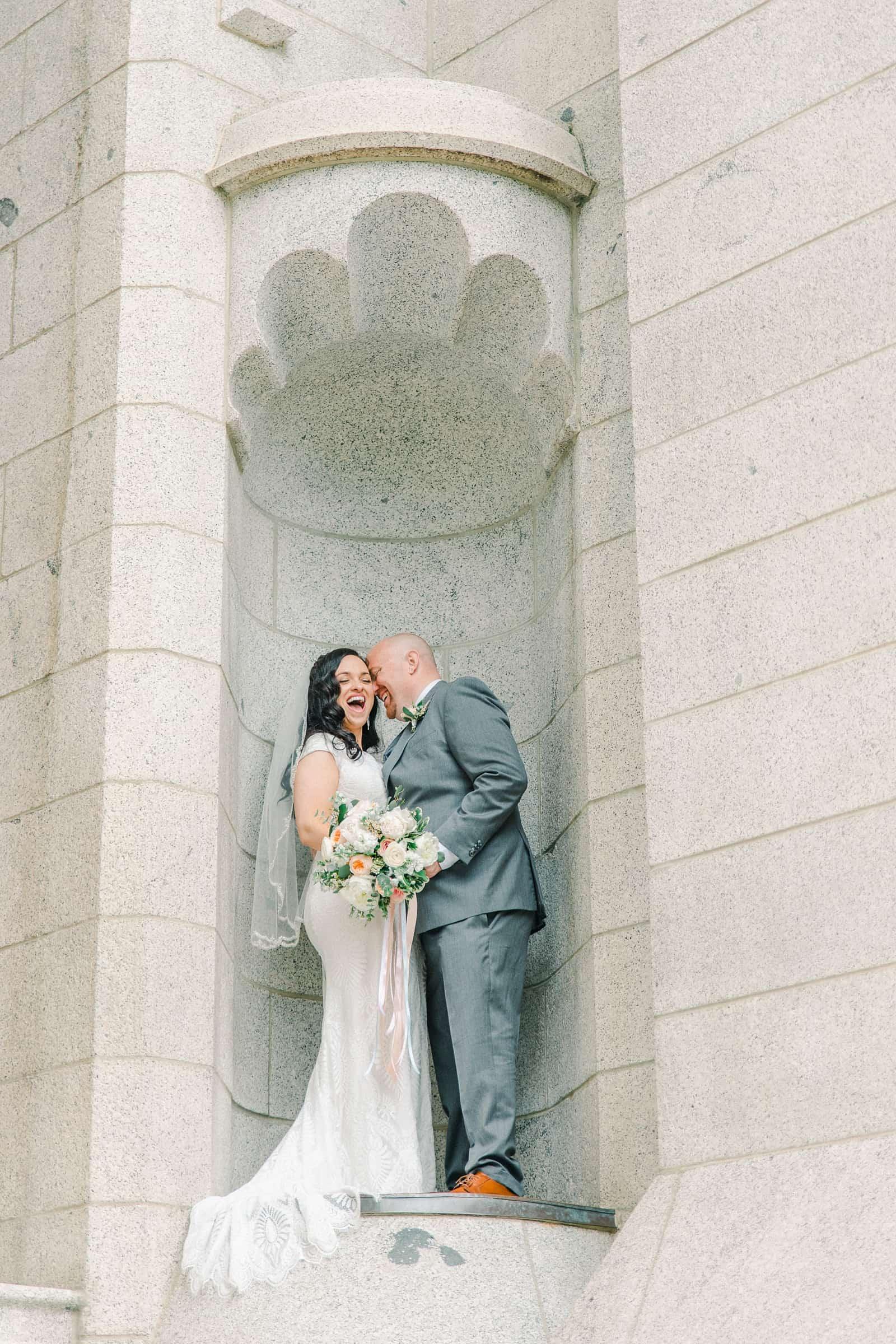 Thomas S. Monson Center Wedding, Salt Lake LDS Temple Wedding, Utah wedding photography. bride and groom