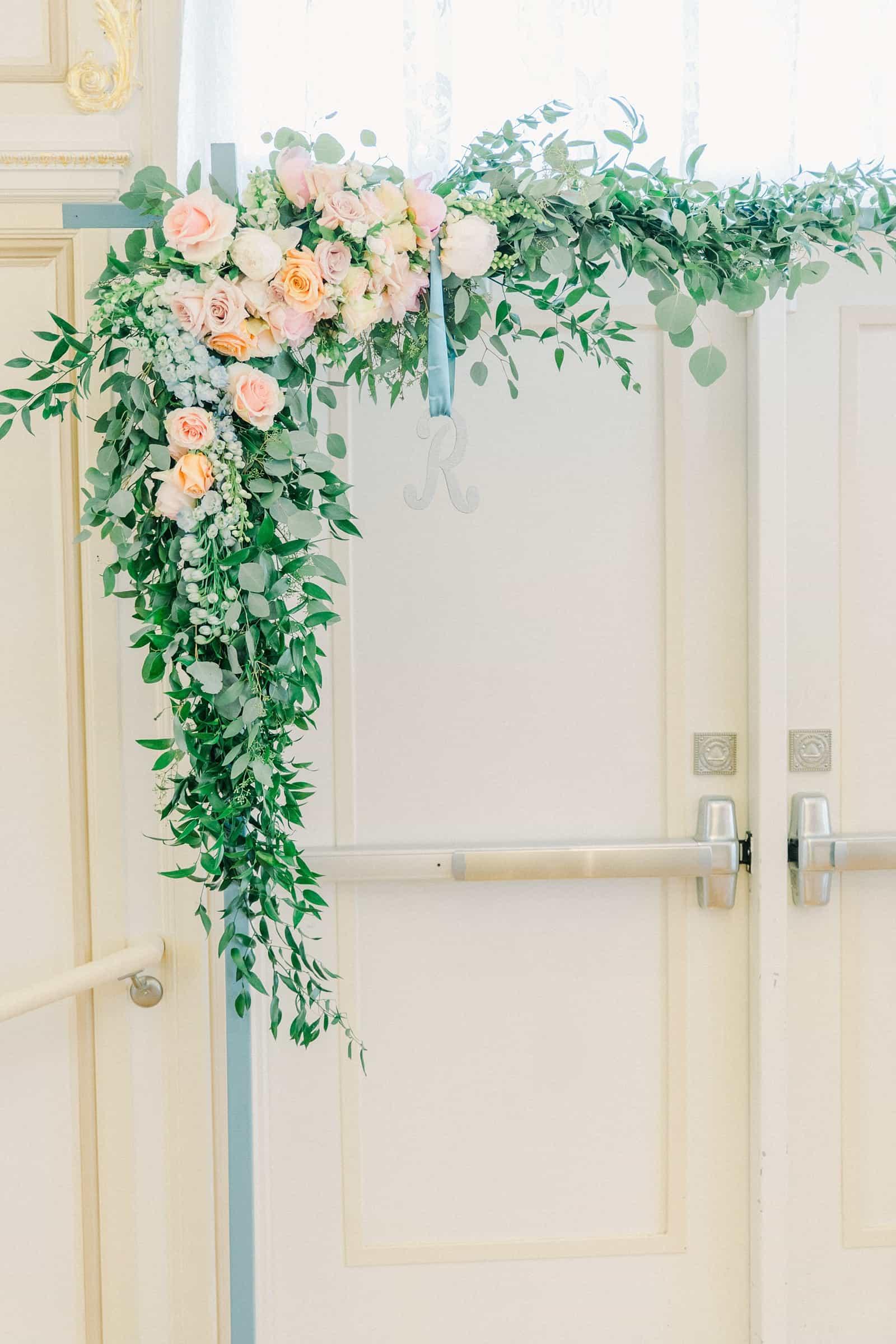 Thomas S. Monson Center Wedding, Salt Lake LDS Temple Wedding, Utah wedding photography, reception decor floral arch