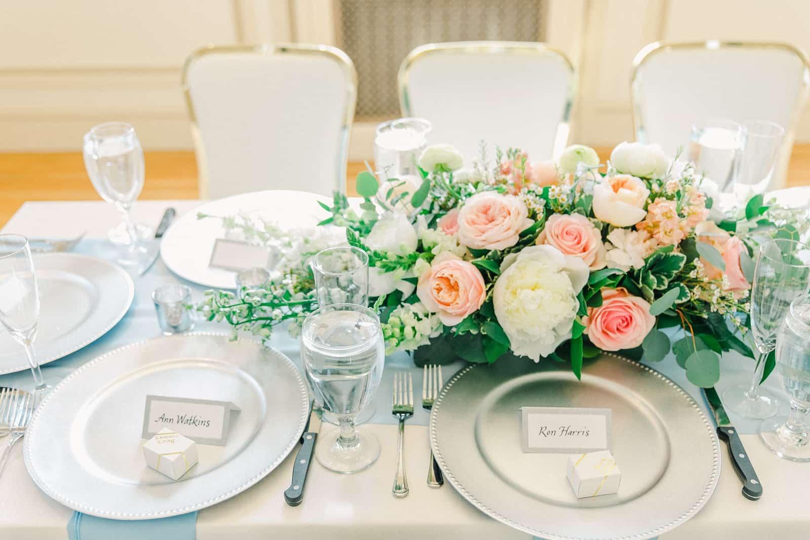 Thomas S. Monson Center Wedding, Salt Lake LDS Temple Wedding, Utah wedding photography, reception decor tablescape centerpiece