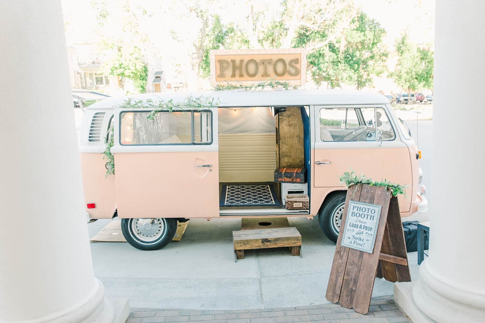 Thomas S. Monson Center Wedding, Salt Lake LDS Temple Wedding, Utah wedding photography, photo booth vintage pink VW bus