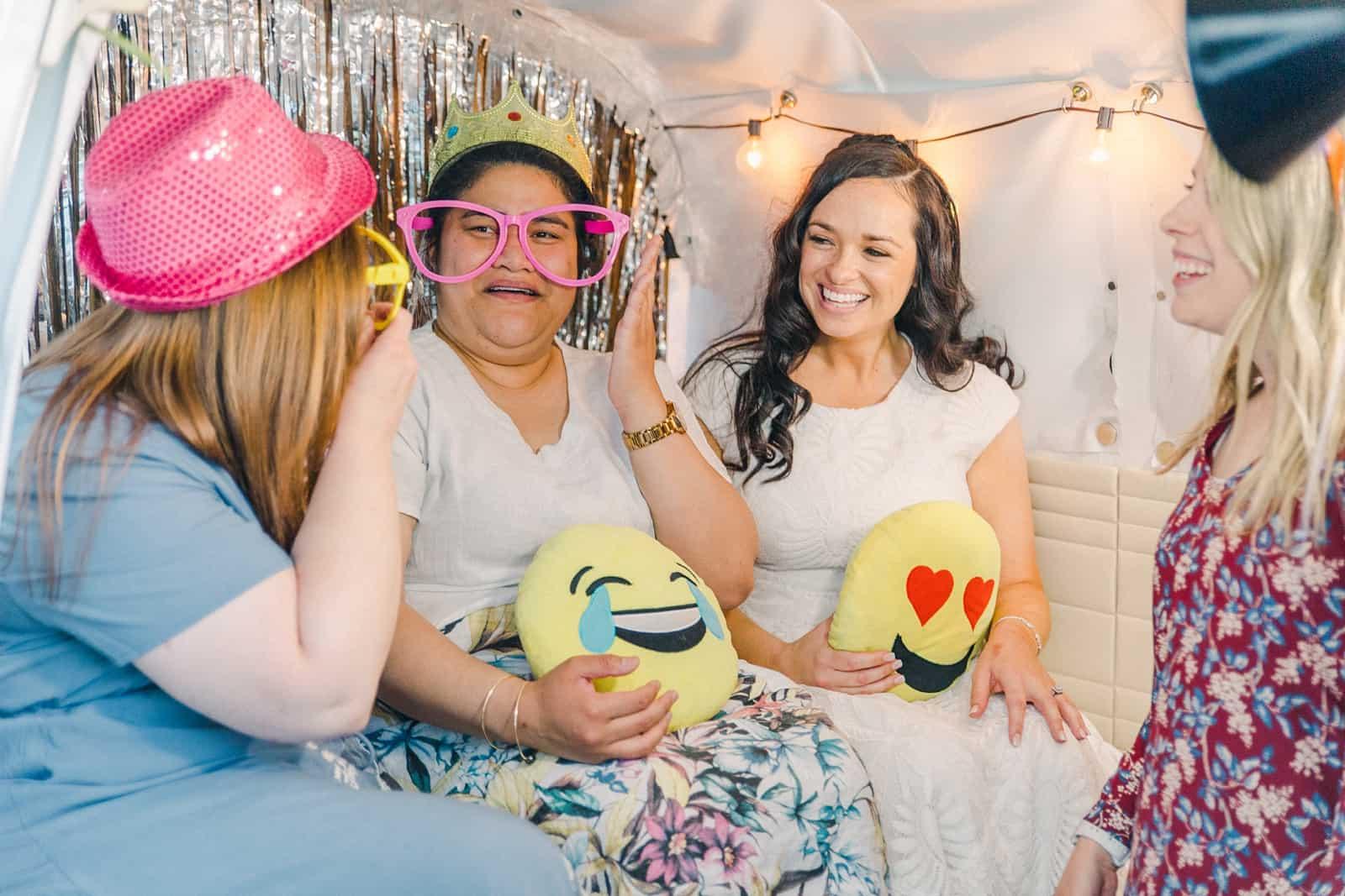 Thomas S. Monson Center Wedding, Salt Lake LDS Temple Wedding, Utah wedding photography, photo booth with props emojis
