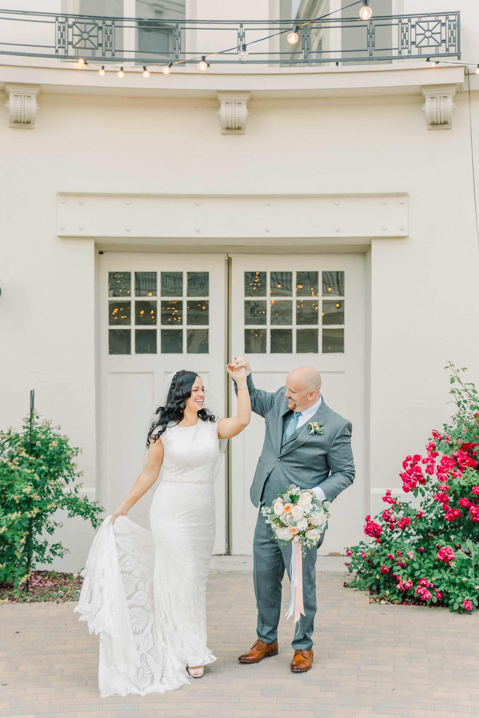 Thomas S. Monson Center Wedding, Salt Lake LDS Temple Wedding, Utah wedding photography. bride and groom first dance